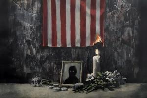 Бэнкси посвятил новую работу протестам в США