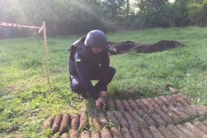 На Вінниччині у парку знайшли понад 600 снарядів часів Другої світової