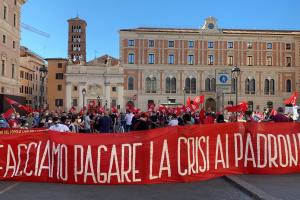 У Римі – протест через коронавірус, поліція застосовує сльозогін