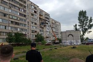Взрыв на Позняках: начались подготовительные работы для укрепления разрушенного дома