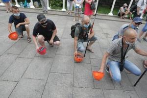 На Банковій одинадцятий день протестують шахтарі
