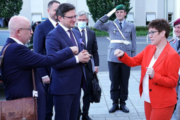 La délégation ukrainienne entame sa visite à Berlin par des entretiens au ministère de la Défense