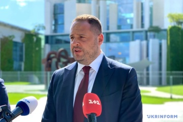 Yermak taking part in meeting of political advisers to 'Normandy Four' leaders in Berlin