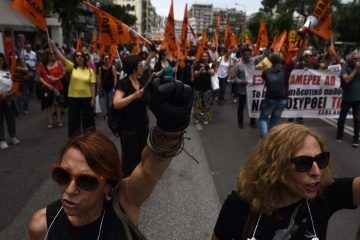 У центрі Афін протест вчителів – рух транспорту заблокований