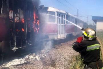 У Кривому Розі під час руху загорівся трамвай