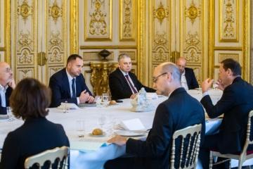 イェルマーク大統領府長官ら、パリにて仏側とミンスク・プロセスを協議