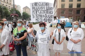 À Kyiv, les médecins exigent aux autorités de reprendre le financement des établissements de santé