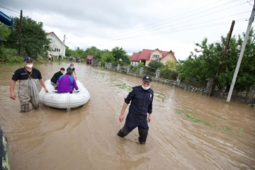 Regenwetter in der Ukraine: 285 Ortschaften überschwemmt, 64 Brücken zerstört