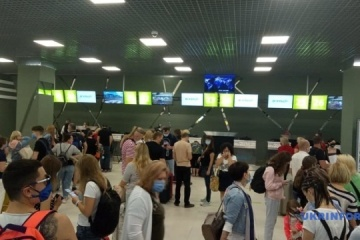 First charter flight departs from Kyiv Airport