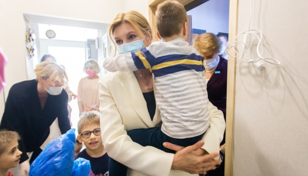 Зеленська та голова представництва ЮНІСЕФ відвідали будинок для дітей-сиріт з інвалідністю