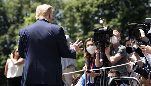 Трамп з'явився на публіці вперше після повідомлень про перемогу Байдена