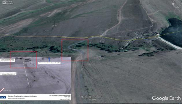 民間調査グループ、ロシアによるウクライナ東部への車列侵入地点を特定