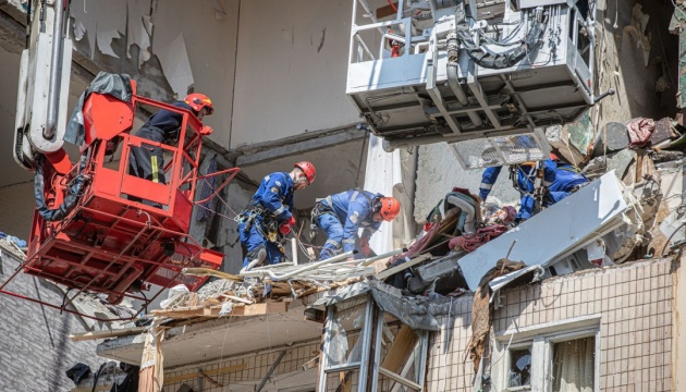 Rescue works at scene of explosion in Kyiv multi-storey building completed. Five died