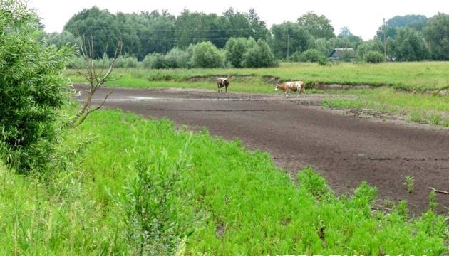 На Чернігівщині пересохла частина річки, що впадає у Десну