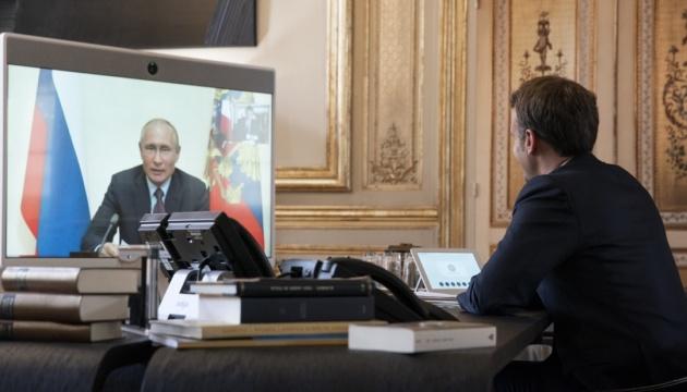 Макрон і Путін вдруге за місяць поговорили по телефону
