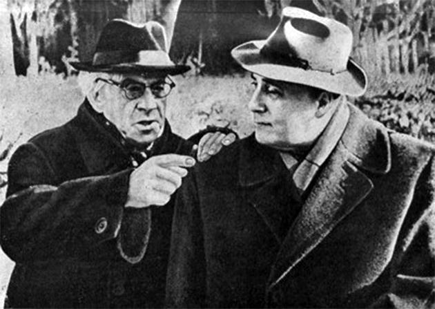 Максим Рильськийта Володимир Сосюра, 1957 рік