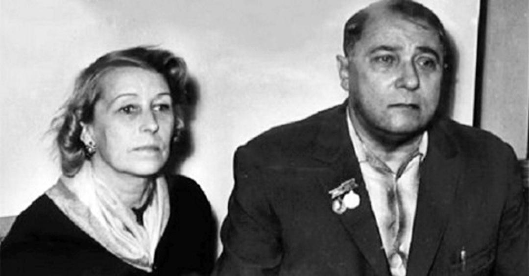 Володимир Сосюра та дружина, київська балерина Марія Данилова 1960-ті рр.