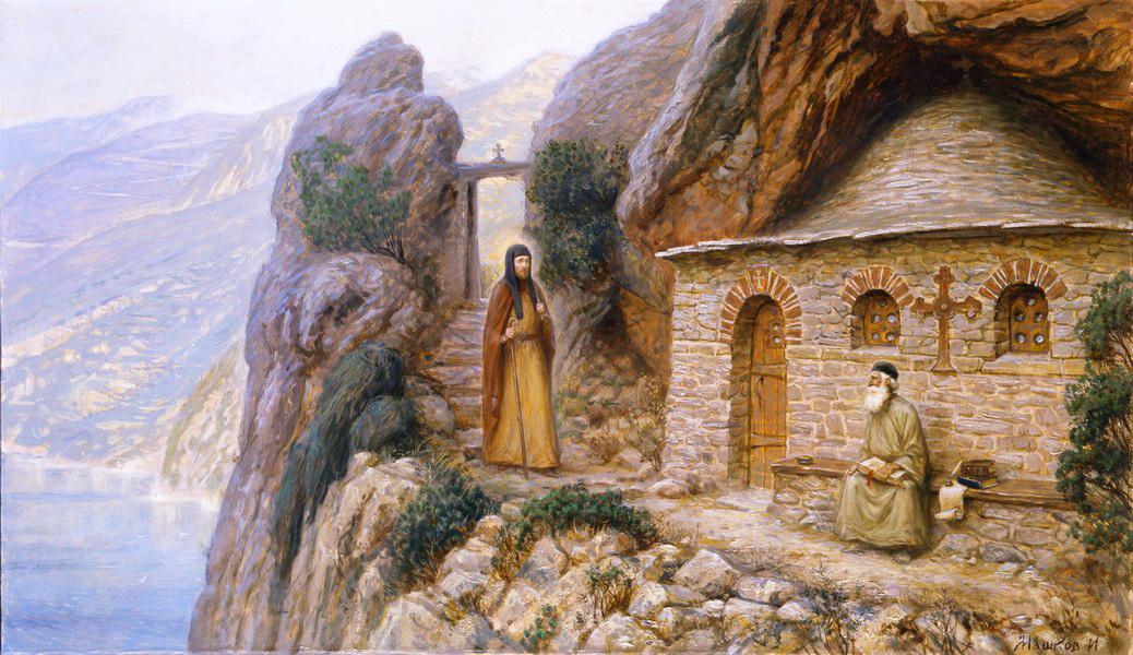 преподобный Антоний Печерский на Афоне 1