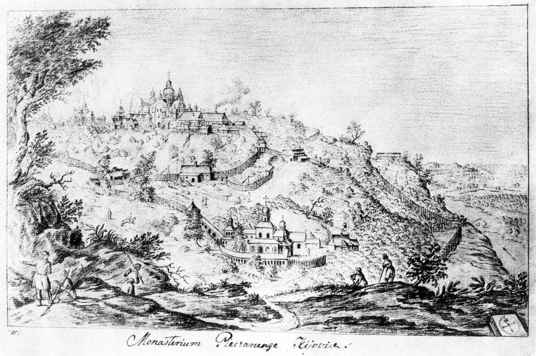Печерська лавра, гравюра Абраґама ван Вестерфельда,  1651 р. 1