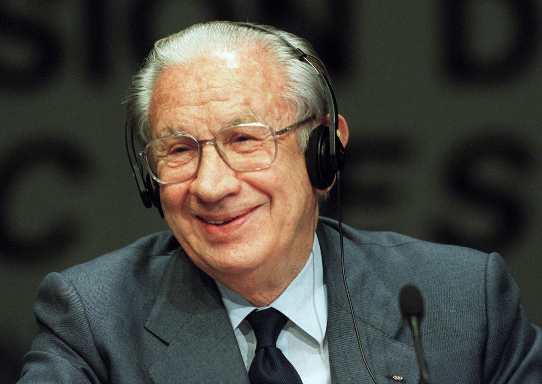 Хуан Антоніо Самаранч під час пресконференції