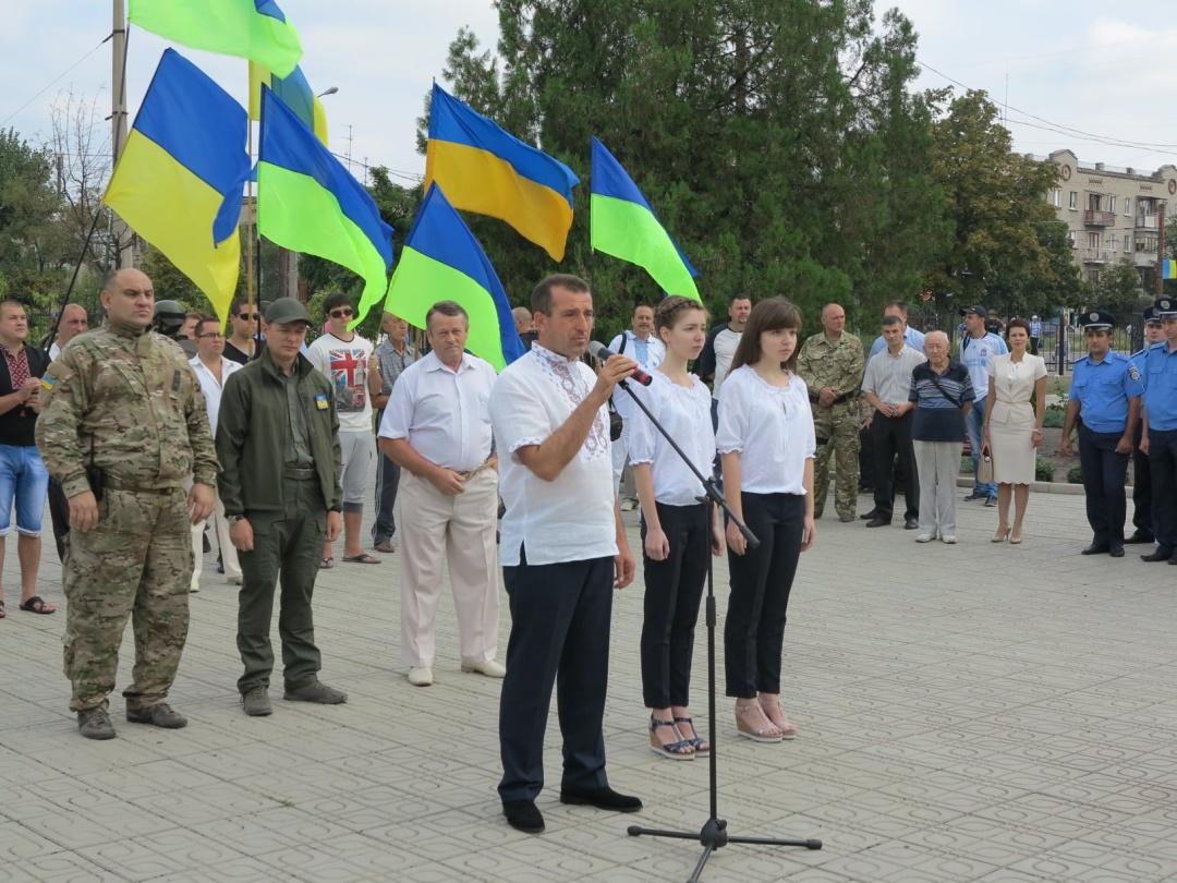 День Прапора в Сєвєродонецьку 23 серпня 2014-го. Сергій Шакун,