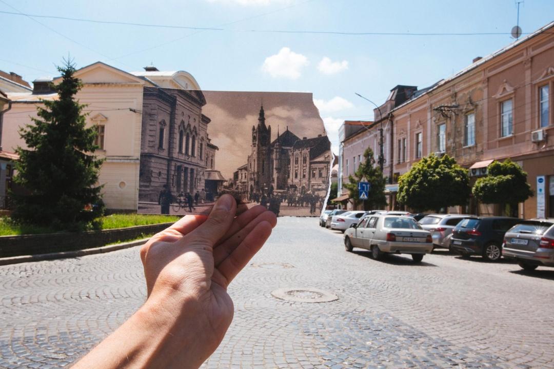 Закарпатський фотопроєкт порівнює Мукачево сьогодні та 100 років тому