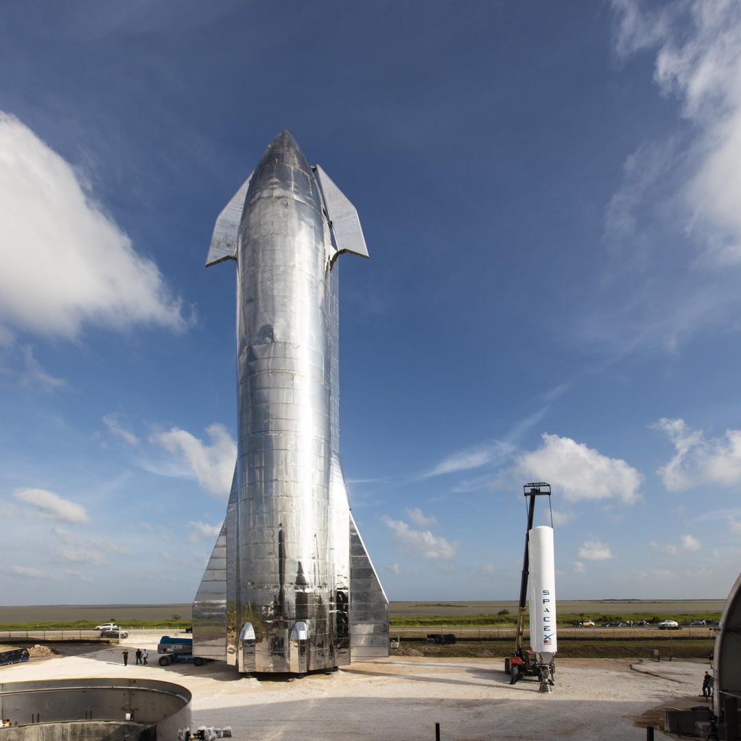 Корабель Starship.  Джерело: SpaceX.
