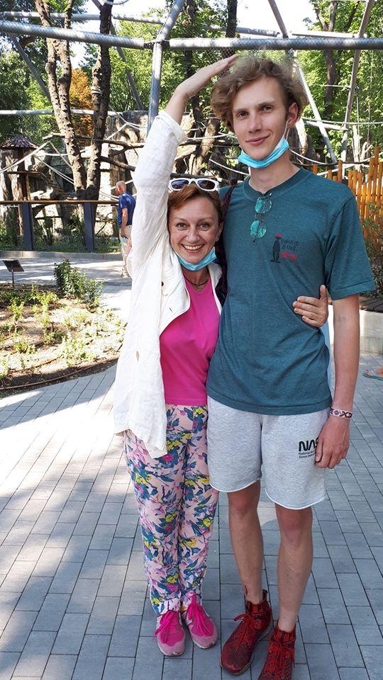 Римма Зюбіна з сином Даниїлом