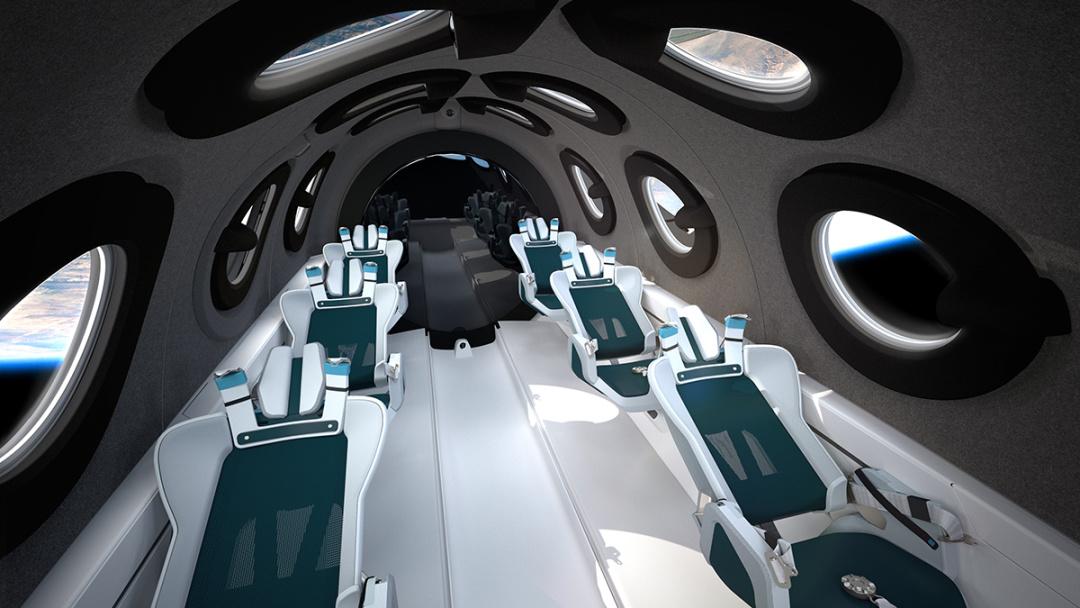 Virgin Galactic показала інтер'єр кабіни туристичного космоплану