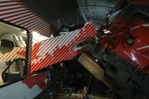 У швейцарському тунелі зіткнулися два потяги, є постраждалі