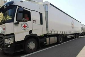 Красный Крест отправил пять грузовиков гумпомощи на оккупированный Донбасс