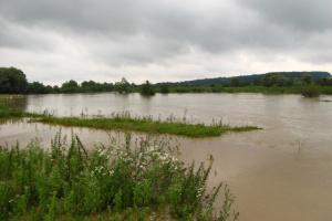 На Львовщине река вышла из берегов - подтоплено село, размыты три дороги