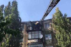 Горящую пятиэтажку в Новой Каховке потушили