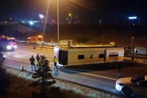 Смертельное ДТП в Турции: автобус врезался в бетонный барьер