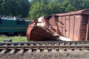 На Кировоградщине сошел с рельсов грузовой поезд