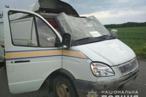 На Полтавщині підірвали автомобіль Укрпошти і викрали 2,5 мільйона