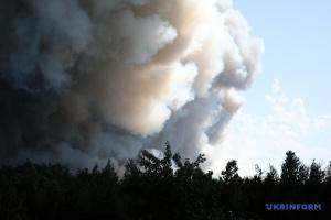 Голова ОДА пояснив, чому вчора до гасіння пожеж на Луганщині не змогли залучити літак
