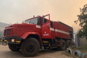 Пожар на Луганщине: продолжается тушение очагов тления