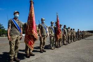 На Закарпатье встречают из зоны ООС бойцов 128 бригады