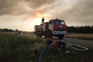 Через лісові пожежі у Сєвєродонецьку загорілося міське звалище