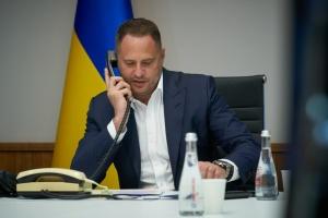 Єрмак обговорив з білоруським колегою поглиблення двостороннього співробітництва