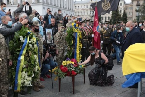 В Киеве прощаются с Героем Украины Тарасом Матвиивым