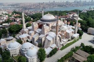 На території Айя-Софії у Стамбулі демонтували музейний знак