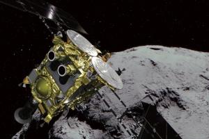 Японский зонд доставит на Землю пробы песка и камней с астероида Рюгу