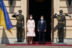Зеленський зустрівся з президенткою Швейцарії у Маріїнському палаці