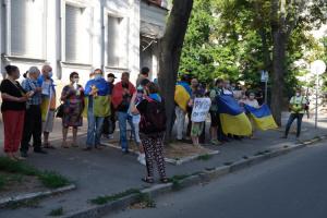 Біля консульства РФ у Харкові вшанували пам'ять трирічного Муси Сулейманова