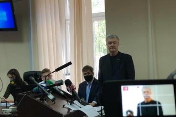 地区裁判所、ポロシェンコ前大統領に判決前義務を選択せず