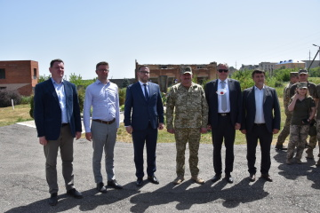Ambassadors of four European countries visit JFO area in Donbas