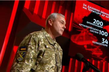 Environ 32 500 soldats russes sont stationnés actuellement en Crimée occupée