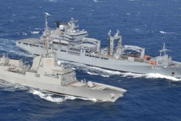 Naves de la OTAN preparándose para ejercicios en el Mar Negro